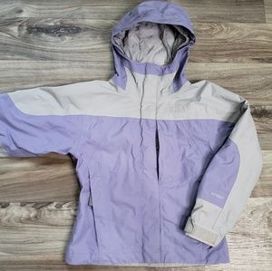 North Face Girls Zip Up Waterproof hooded Coat